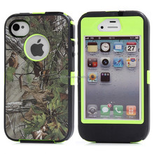 high quality Camouflage Hybrid Hard pc tpu Armor phone Case For iphone 4 4s
