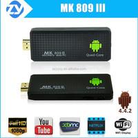 Best android tv box rk3188 quad core 2GB/8GB mk809iii amazon fire tv stick