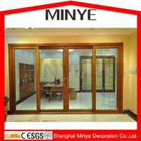FRANCE STYLE ALUMINUM SLIDING DOORS WITH DOUBLE GLAZED TEMPERED GLASS HOT SALE