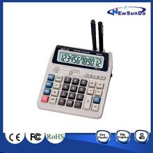 Desktop Calculator with Pen Holder computer key calculator with 12 Digits Display