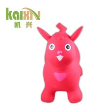 lovely Children rubber toy inflatable jumping animal toy