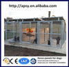 Steel wire round tube welded dog pens modular fence panels for small animals waterproof dog wire kennels manufacturer