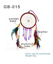 new fashion popular hot sale colorful feather handmade craft dream catcher gift