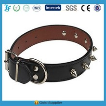 2015 hot new pet products spike leather pet dog collar pu leather puppy dog collars