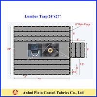 flame retardant black heavy duty lumber tarp 24x27