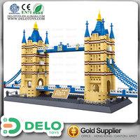 Lastest innovative products for import wange building blocks famous building London Tower Bridge bricks DE0083157