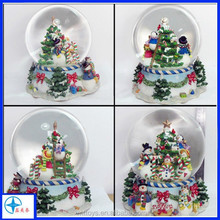 Different kinds of water/snow globe made in resin