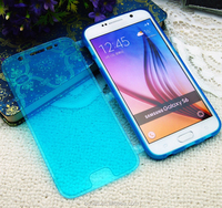 Soft plastic cell phone case for Samsung galaxy S6,clear flip case for samsung