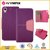 For HTC desire 626 flip cover case with credit card slots protective wallet case
