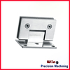 aluminum clips to glass clamps rail with painting