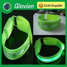 Super bright in dark led armbands customized armbands led reflective armband