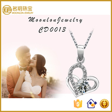 925 Sterling Silver Jewelry Wholesale, Bridal Jewelry Set Heart Shaped CZ Pendant Wholesale Jewelry Manufacturer China