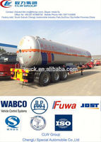 China gas tank trailer 40 m3 used lpg semi trailer