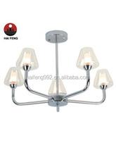 special upward glass pendant light/comtemporary family chandelier light E27