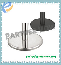 Stainless Steel Railing Base for Retractable belt stanchion queue pole