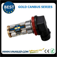 Auto accessory 9006 550LM 8*3623 chips gold canbus led fog bulb chrome tail light
