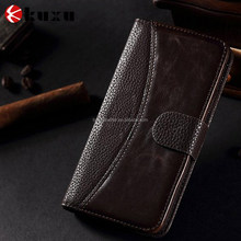 Luxury magnetic good quality book style leather case for Samsung S6