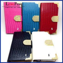 Leather case for iphone mobile phone accessories factory in china wholesale leather flip case for iphone 5