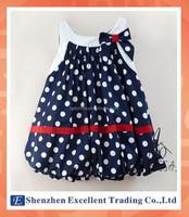 Summer Casual Polka Dots Sleeveless Lantern Dress