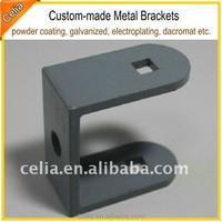 hot dipped galvanized u shaped brackets in steel or metal