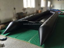 5-10 meters inflatable long boat plywood floor salvage pontoon boat for sale!!!