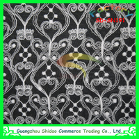 swiss white bridal wedding embroidery organza lace fabric