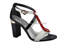 newest supper popular mixed color high heel bridal wedding shoes