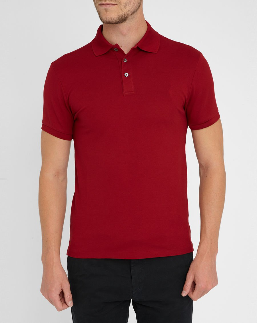 Custom mens red plain polo shirts 100 cotton wholesale for Where to buy polo shirts cheap