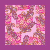 100% Silk Paisley Pocket Square Handkerchief For Men