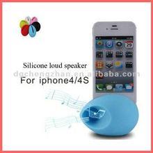 Egg-shape silicone amplifier speaker