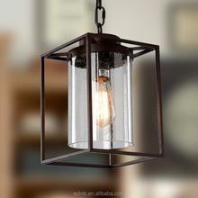 American country iron shelf bracket pendant light Ikea modern simple base iron lights
