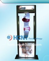New Invention ! magnetic levitation led display rack for underwear, different bra sizes pictures