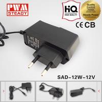 Powerful Output 12W 12V 1A Single Output Adapter LED Driver