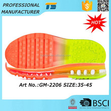 New Design Super Skid Unisex Wholesale Rubber Air Cushion Shoe Soles For Sneakers