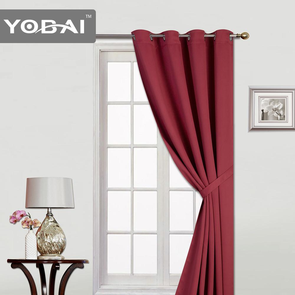 100 polyester rideau d 39 occultation pour fen tre for Taille rideau fenetre