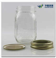 400ml storage cylindrical glass container for food wholesale