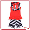 Fancy July 4th Kids Girls Summer Outfit Cotton Casual Patriotic Clothing Sets Children's Western Clothing