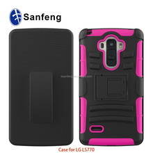 Best quality for LG ls 770 foshan mobile phone accessorie, holster belt case with kickstand