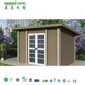 Instalación rápida impermeable y ultravioleta resistente WPC casa portátil