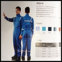 High Quality Arc protection Blue flame retardant jumpsuits for man