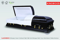 funeral carved wooden casket CardDONMINION cherry wood veneer paper china manufacturing company