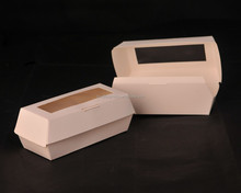 clamshell paper hot dog box
