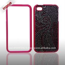 for Apple Iphone 4 stylish brand new Crystal Bling Snap on Faceplate Cover Case