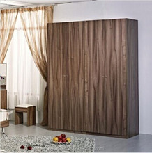 HX-MZ944 Rustic style antique looking spacious room wooden wardrobe