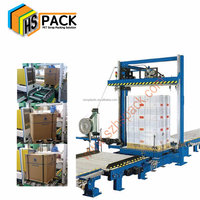 Automatic orbital pallet strapping machine for heavy huge packages