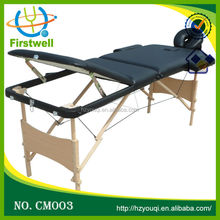 Wooden beauty therapy jobs bed salon oval massage table/massage bed