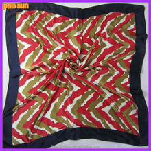 Fashion promotional custom wholesale silk like scarf