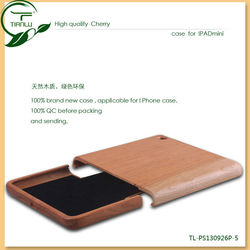Nature wooden bamboo case for ipad mini,2013 new accessories for ipad case wood