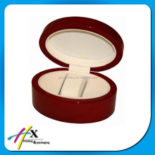 Wholesale Red Circle Hot Sale Special-shaped Wood Box for Women Watch