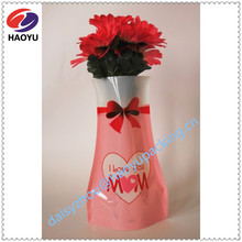 Standing plastic vase bag for fresh flower, Shandong Qingdao plastic packaging manufacture with high quality and good price,